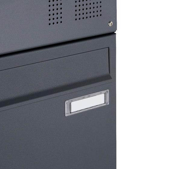 Basic   15er 3x5 Aufputz Briefkasten Design BASIC 382A AP - RAL 7016 anthrazitgrau 100mm Tiefe by Briefkasten Manufaktur   Mailboxes