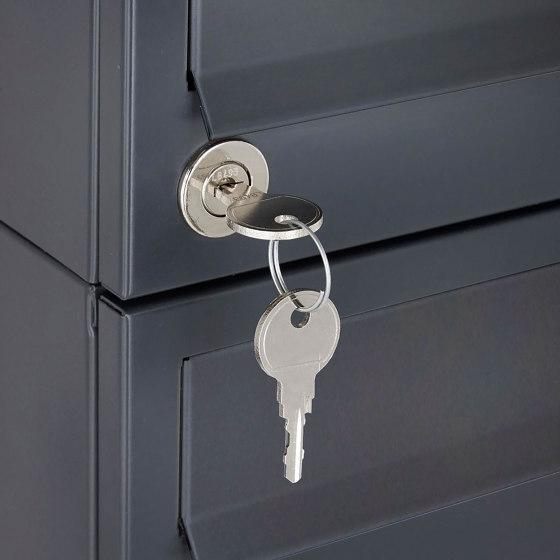Basic | 15er 5x3 Edelstahl Briefkastenanlage freistehend Design BASIC Plus 385XP ST-T - RAL nach Wahl by Briefkasten Manufaktur | Mailboxes