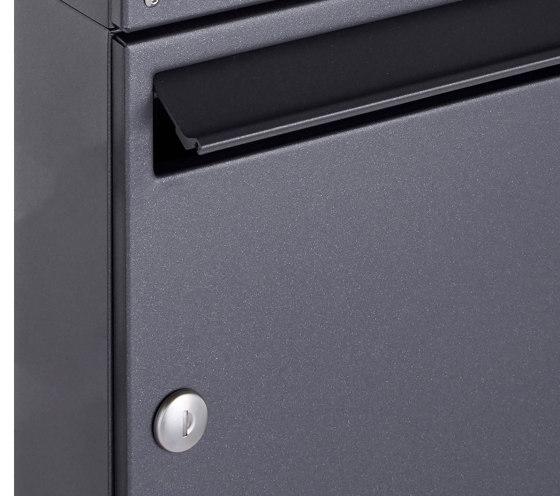Basic | 16er 4x4 Aufputz Briefkasten Design BASIC 382A AP - DB703 eisenglimmer 100mm Tiefe by Briefkasten Manufaktur | Mailboxes