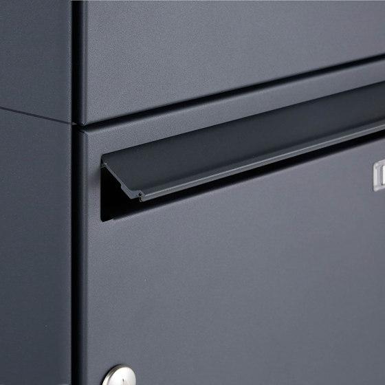 Basic | 16er 4x4 Aufputz Briefkasten Design BASIC 382A AP - RAL 7016 anthrazitgrau 100mm Tiefe by Briefkasten Manufaktur | Mailboxes