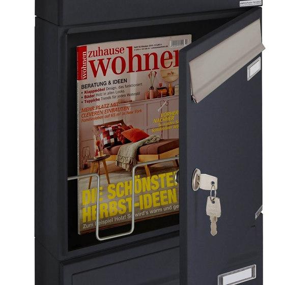 Basic | 16er 4x4 Aufputz Briefkastenanlage Design BASIC 382 AP - Edelstahl-RAL 7016 anthrazitgrau 100mm Tiefe by Briefkasten Manufaktur | Mailboxes