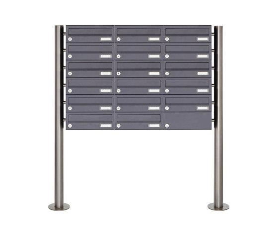 Basic | 17er 6x3 Briefkastenanlage freistehend Design BASIC 385 ST-R - RAL 7016 anthrazitgrau by Briefkasten Manufaktur | Mailboxes