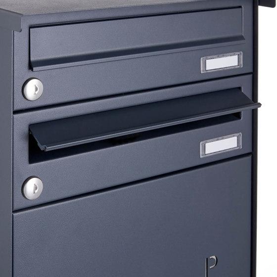 Basic   18er Briefkastenanlage freistehend BASIC 863 ST-Q mit 6x Paketfach -18x Briefkasten in RAL 7016 by Briefkasten Manufaktur   Mailboxes