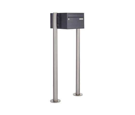 Basic | 1er Briefkastenanlage freistehend Design BASIC 385220 7016 ST-R - RAL 7016 anthrazitgrau by Briefkasten Manufaktur | Mailboxes