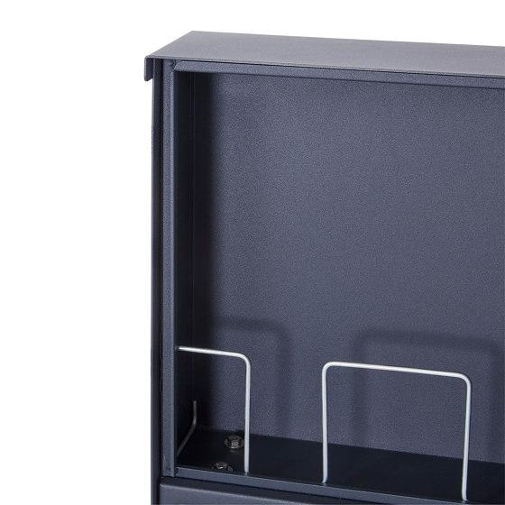 Basic   1er Edelstahl Aufputz Briefkasten Design BASIC Plus 382XA AP - RAL nach Wahl 100mm Tiefe by Briefkasten Manufaktur   Mailboxes