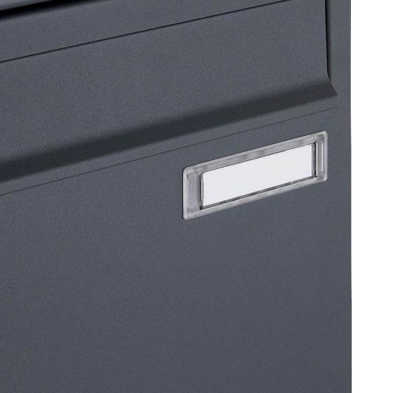 Basic | 1er Edelstahl Standbriefkasten Design BASIC Plus 381X ST-R - RAL nach Wahl 100mm Tiefe by Briefkasten Manufaktur | Mailboxes