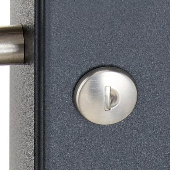Basic | 2er 2x1 Standbriefkasten Design BASIC 381 ST-R mit Klingelkasten & Zeitungsfach - Edelstahl-RAL 7016 by Briefkasten Manufaktur | Mailboxes