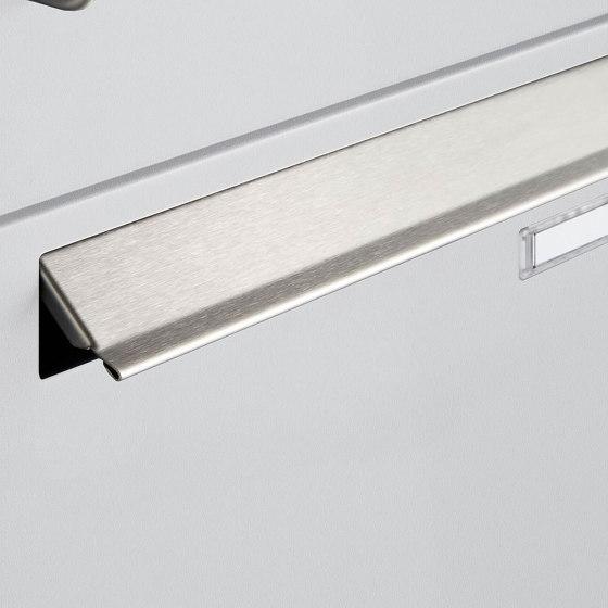 Basic | 2er 2x1 Standbriefkasten Design BASIC 381 ST-R mit Zeitungsfächer - RAL 9016 verkehrsweiß by Briefkasten Manufaktur | Mailboxes