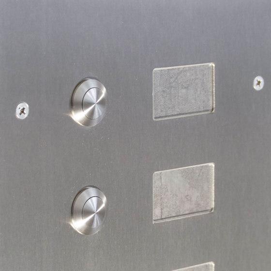 Basic | 2er Edelstahl Aufputz Briefkasten Design BASIC Plus 592C AP mit Klingelkasten - INDIVIDUELL Rechts by Briefkasten Manufaktur | Mailboxes
