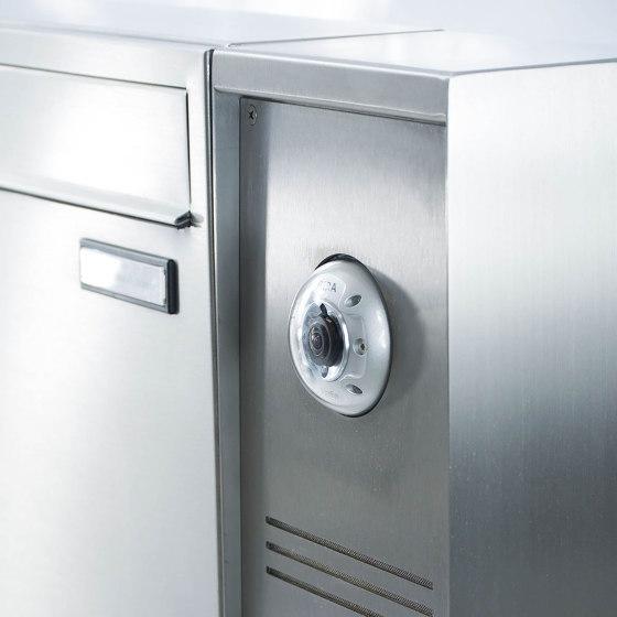 Basic | 2er Edelstahl Standbriefkasten BASIC Plus 592C ST-P - Klingelkasten - INDIVIDUELL Rechts by Briefkasten Manufaktur | Mailboxes