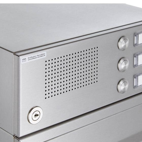 Basic | 2er Edelstahl Standbriefkasten Design BASIC Plus 385 220 ST R mit Klingelkasten by Briefkasten Manufaktur | Mailboxes