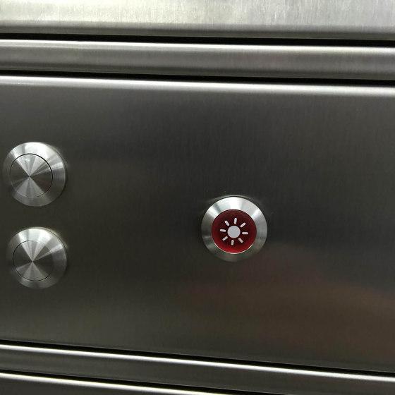 Basic | 2er Standbriefkasten als Zaunbriefkasten BASIC 381Z-K7016 - anthrazitgrau RAL 7016 mit Klingelkasten Oben by Briefkasten Manufaktur | Mailboxes