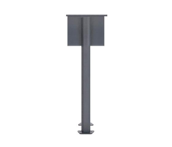 Basic | 2er Standbriefkasten Design BASIC 385P ST-T mit Klingelkasten - RAL 7016 anthrazitgrau by Briefkasten Manufaktur | Mailboxes