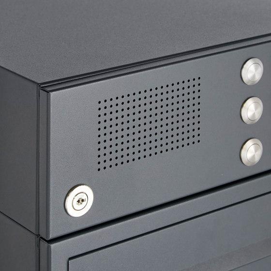 Basic | 2er Standbriefkasten Design BASIC Plus 385 KXP SP mit Klingel & Sprech - Kameravorbereitung by Briefkasten Manufaktur | Mailboxes