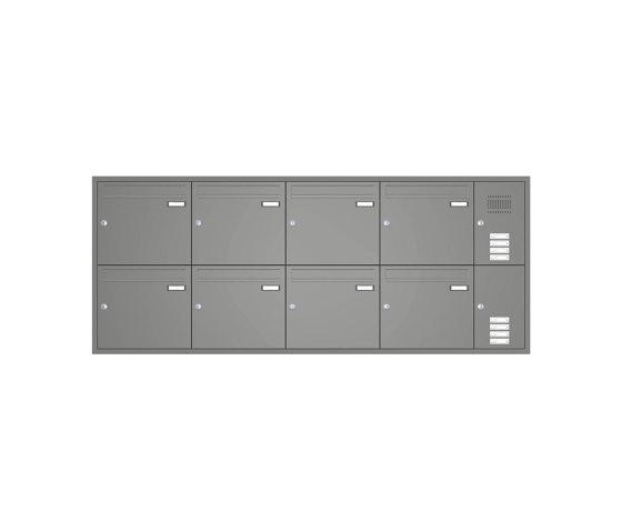 Basic | Unterputz Briefkastenanlage BASIC 534 - Pulverbeschichtet- Klingel- Sprechstelle - 8 Parteien Rechts by Briefkasten Manufaktur | Mailboxes