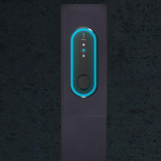 Designer | Edelstahl Ladesäule DESIGNER mit Innogy eBox 3.0 smart 22kW Typ 2 - RAL nach Wahl by Briefkasten Manufaktur | Sockets