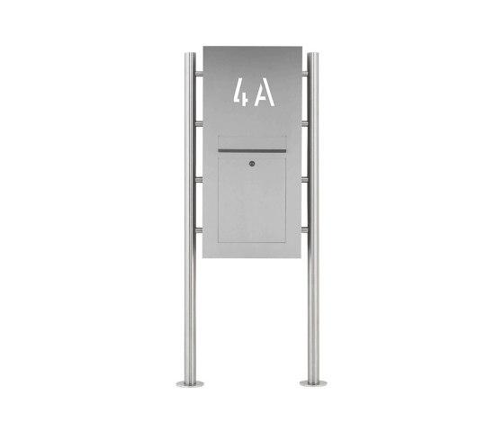 Designer   Edelstahl Standbriefkasten Designer ST-R - Hausnummer hinterbeleuchtet - INDIVIDUELL by Briefkasten Manufaktur   Mailboxes