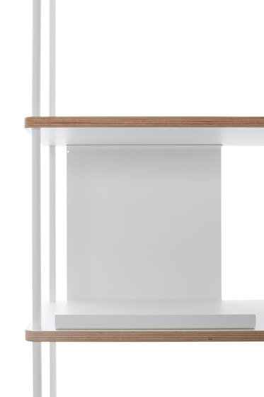 Pal shelf  laquered in 20 colours 90 cm width de Müller small living | Estantería