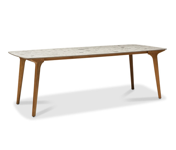 Torsa high dining table 264x118 by Manutti | Standing tables