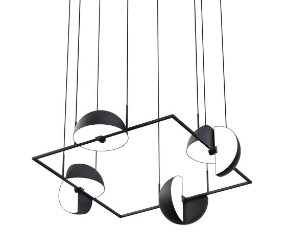 Trapeze Quartette Black by Oblure | Suspended lights