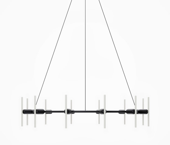 Black Round Chandelier by Beem Lamps | Suspended lights