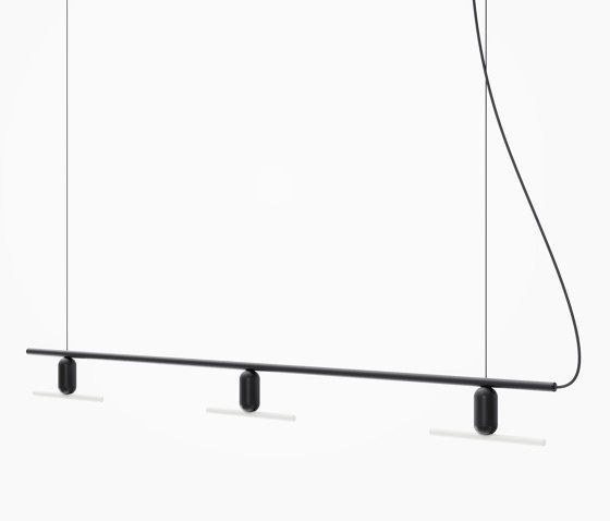 Black Linear Chandelier by Beem Lamps | Suspended lights