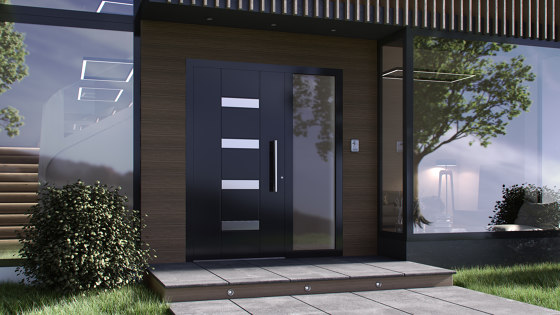 Smartia | MD9660 by ALUMIL | Entrance doors