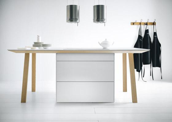 next125 cooking table Alpine white matt velvet by next125   Island kitchens