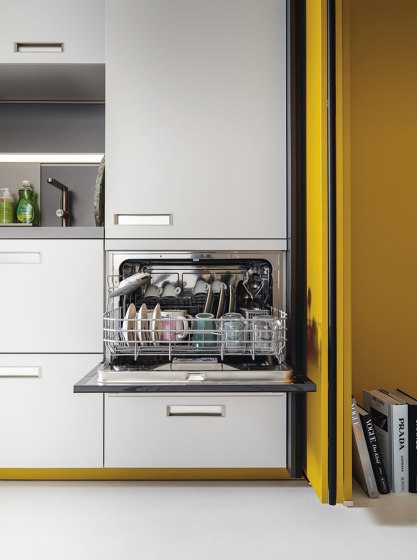 NX 505 Curry satin by next125 | Fitted kitchens