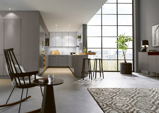 NX 510 Agate grey matt velvet by next125 | Fitted kitchens