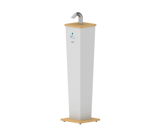 Classic Hand Sanitizer Stand Pillar by Stern Engineering   Infection prevention