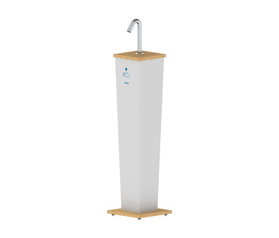 Csaba Hand Sanitizer Stand Pillar by Stern Engineering | Infection prevention