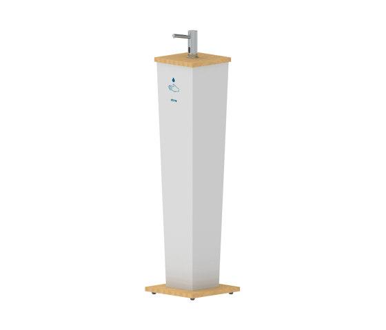 Elite Hand Sanitizer Stand Pillar by Stern Engineering | Infection prevention