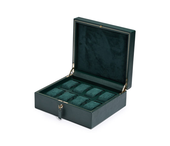 British Racing 8 PC Watch Box | Green by WOLF | Storage boxes