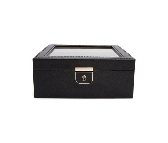 Palermo 6 PC Watch Box   Black Anthracite by WOLF   Storage boxes
