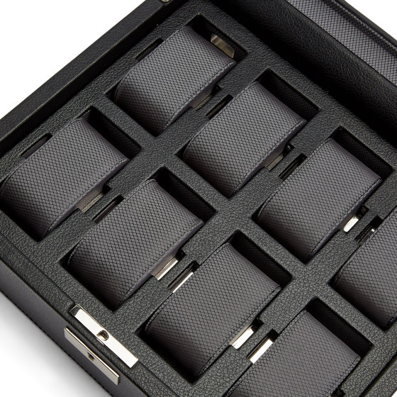 Viceroy 8 PC Watch Box   Black by WOLF   Storage boxes