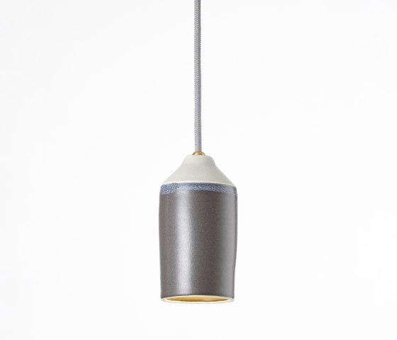 Morandi Dark Grey (narrow) by Hand & Eye Studio   Suspended lights