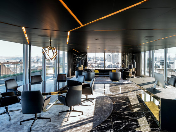 COMPlacq Aluminium lightweight panels by Lindner Group | Ceiling panels