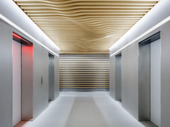 COMPwood Aluminium lightweight panels by Lindner Group | Ceiling panels