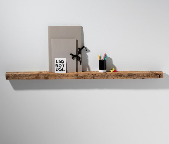 Reclaimed Wood 02 Picture Ledge by weld & co | Picture hanging systems