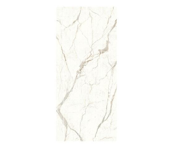 Marvel Shine Calacatta Prestigio Scenic Bookmatch A/B Lappato by Atlas Concorde | Ceramic tiles
