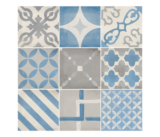 Venti Boost Blue Mix 20x20 by Atlas Concorde | Ceramic tiles