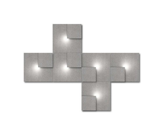 Neliö Light 6 von SIINNE | Wandleuchten