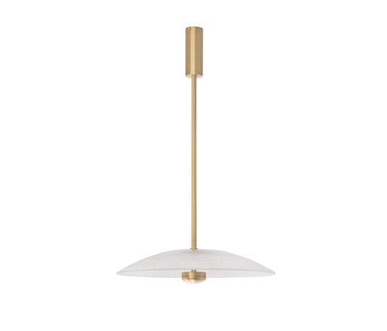 Cielo pendant medium satin brass by CTO Lighting | Suspended lights