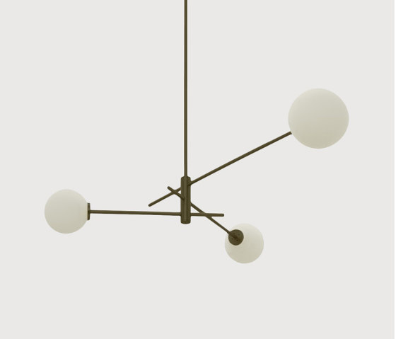 Trevi pendant 3 bronze by CTO Lighting | Suspended lights