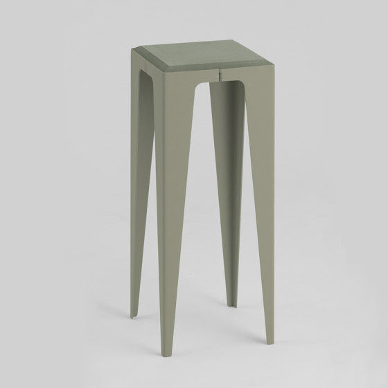|chamfer| Side Table Lavender-Leaf-Green by WYE | Side tables