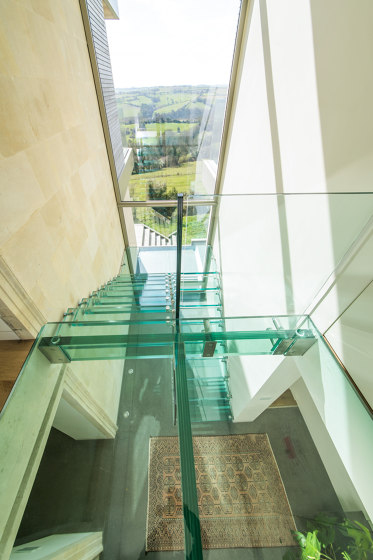 All glass design staircase by Siller Treppen | Staircase systems