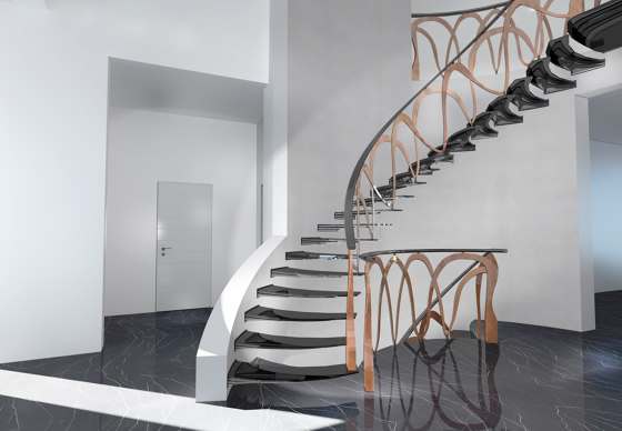 Sky Screw cantilever by Siller Treppen | Staircase systems