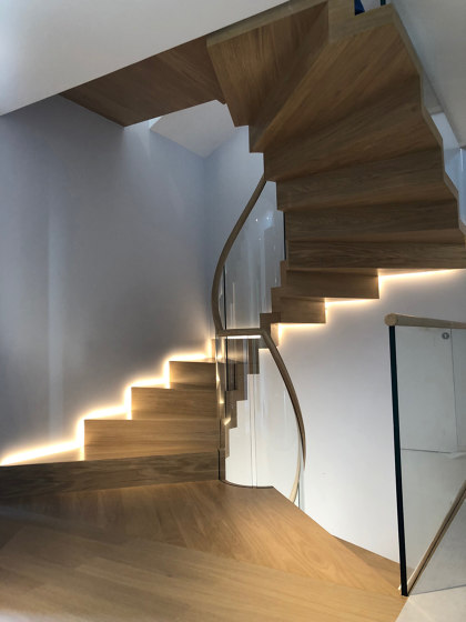 Zig Zag helical by Siller Treppen | Staircase systems