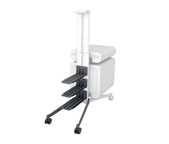 """add-on set for """"Workplace"""" office caddy MI200, to convert the caddy to a two-sided mobile pedestal by Sigel 